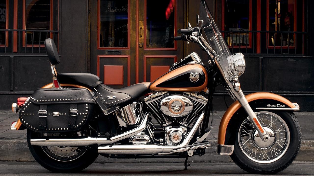 [43+] Harley Davidson Desktop Wallpaper Softail On