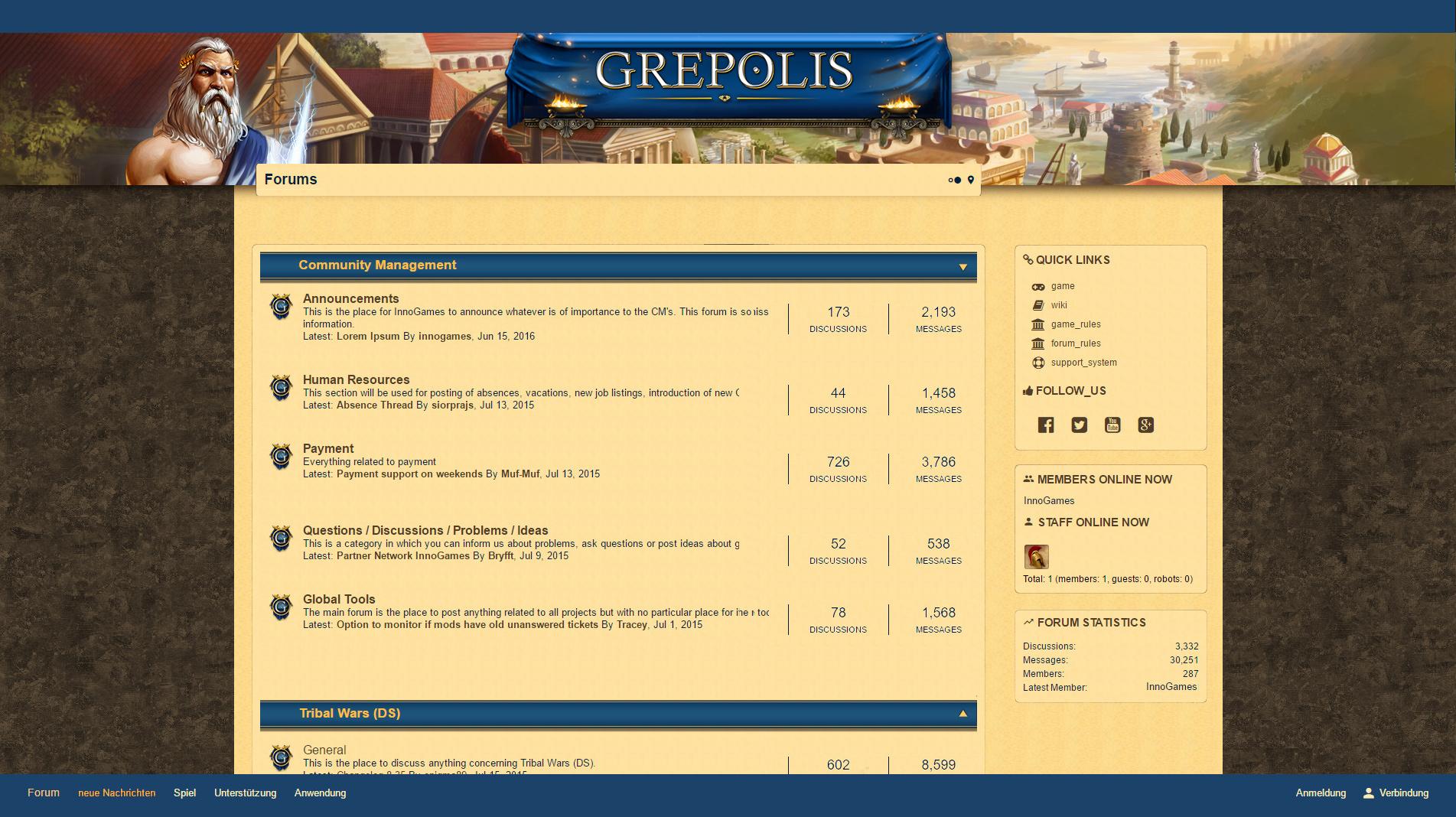 Updating the forum layout Grepolis DevBlog 1903x1068