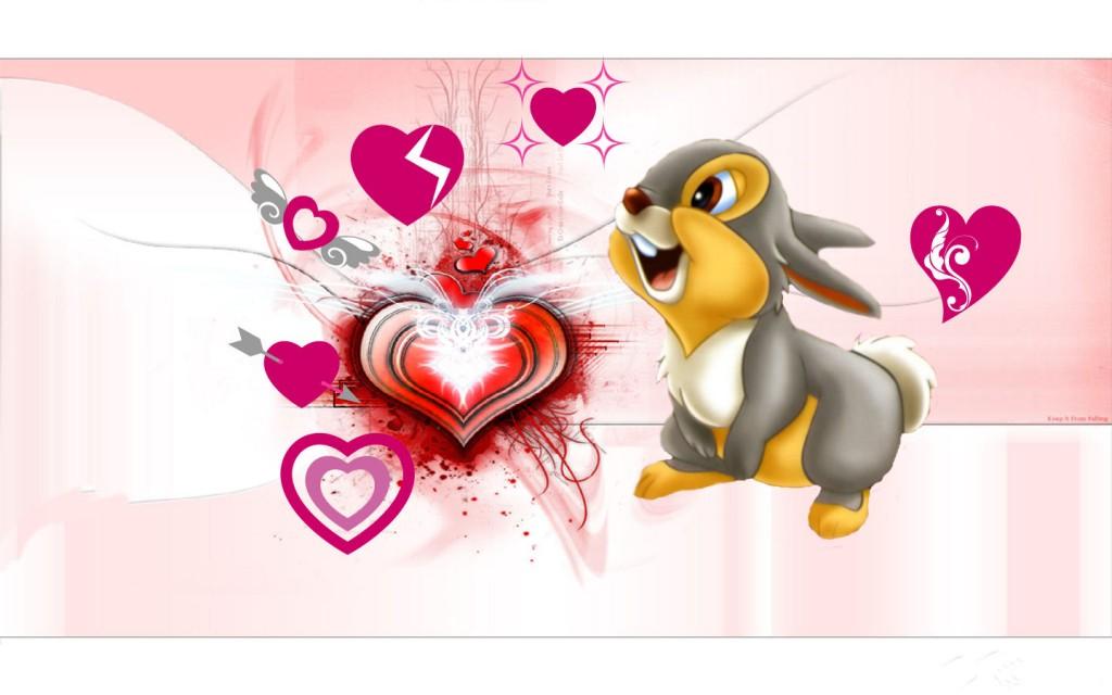 download Cute Rabbit Valentines Day Wallpaper photos Romantic 1024x640