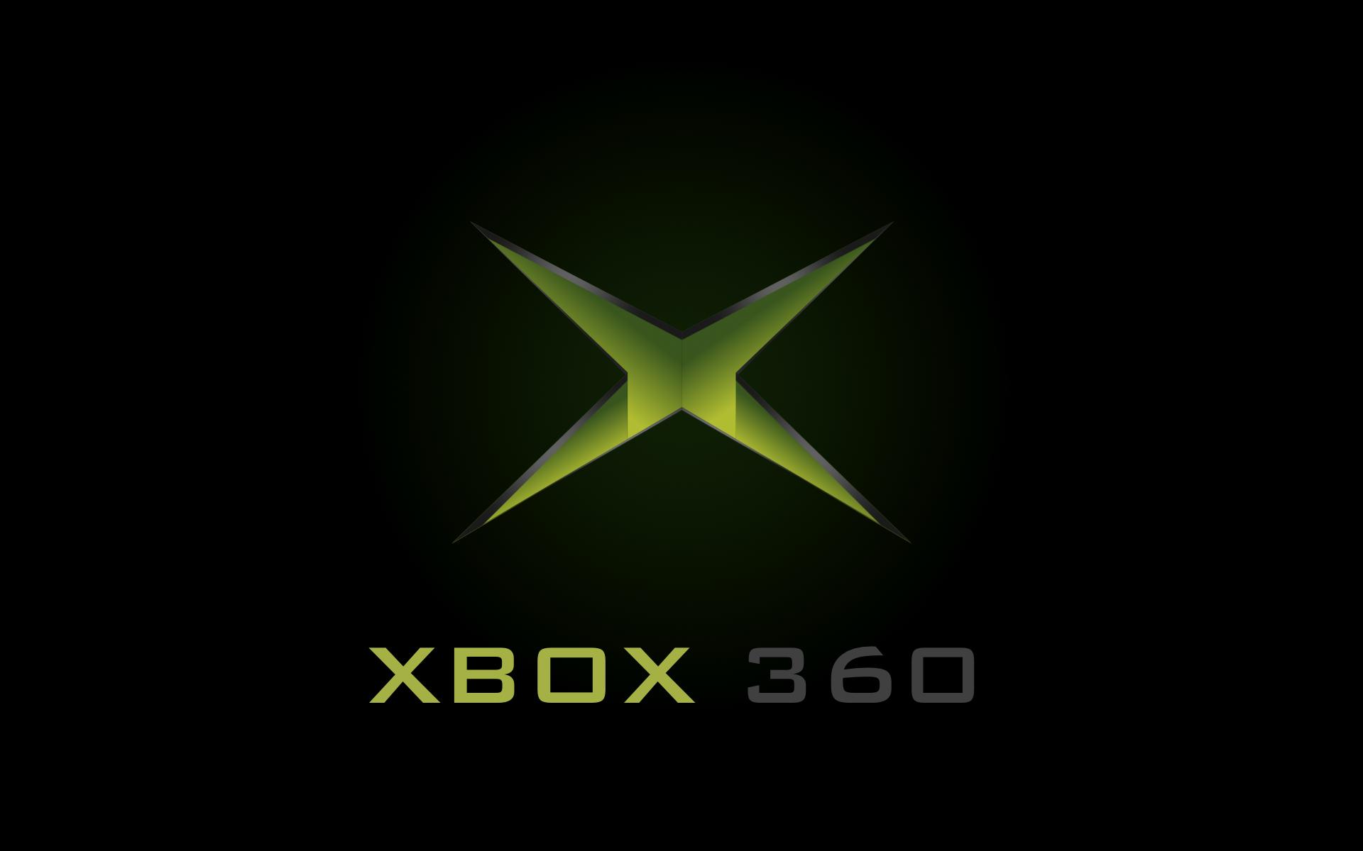 black xbox 360 logo wallpaper 1920x1200