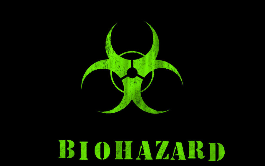 Green Black Biohazard Wallpape by kstrayhorn 900x563