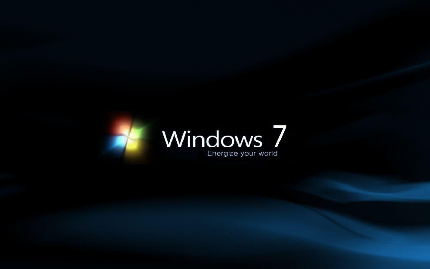 Desktop Background Black Windows 7
