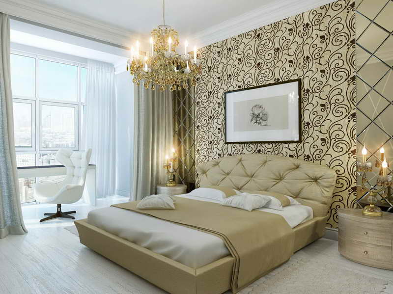 Bold Flower Wallpaper with hanging lamp Home Interior Design 800x599