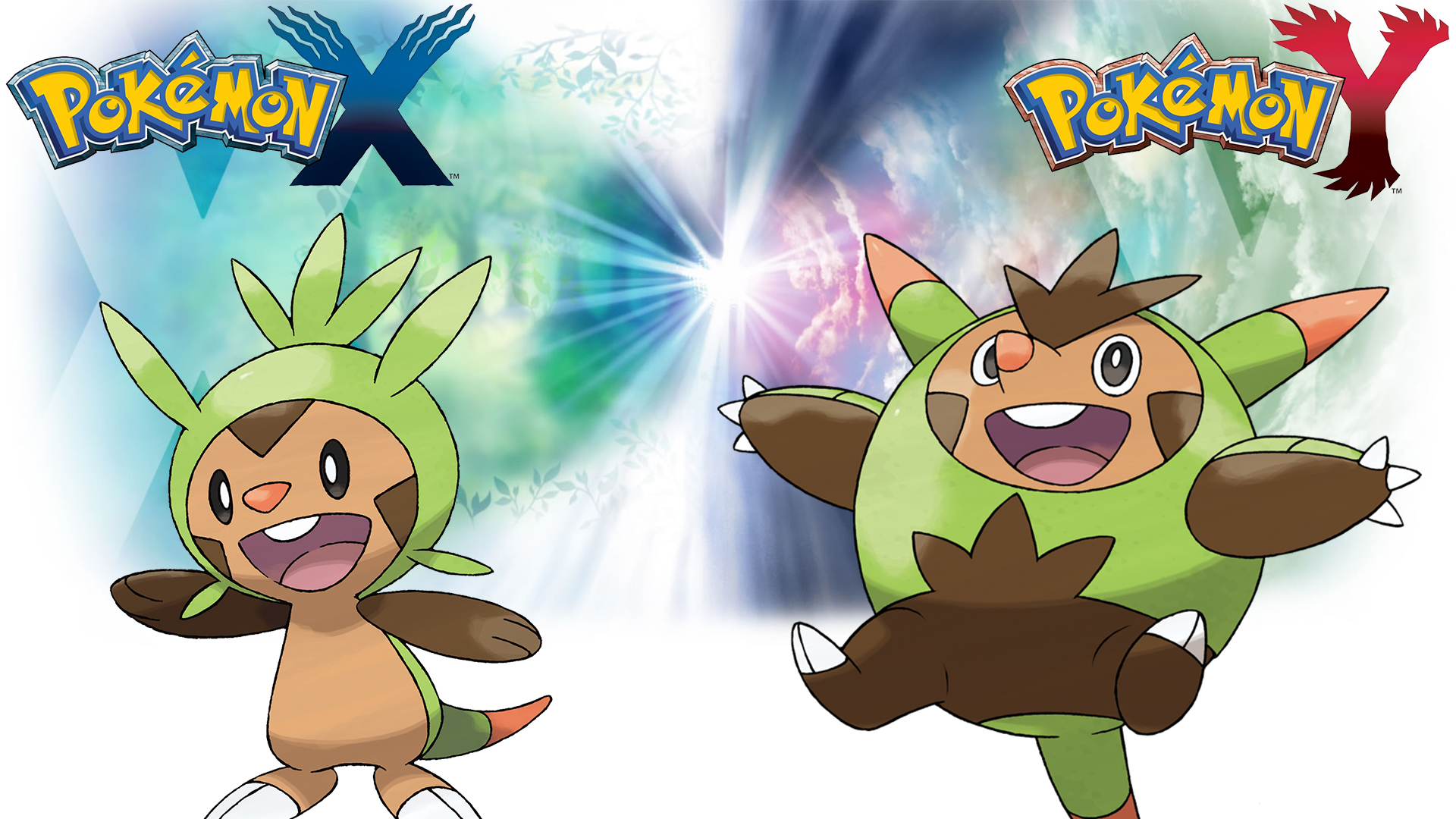 Pokemon X Y   Wallpaper   Chespin and Quilladin by Thelimomon on 1920x1080