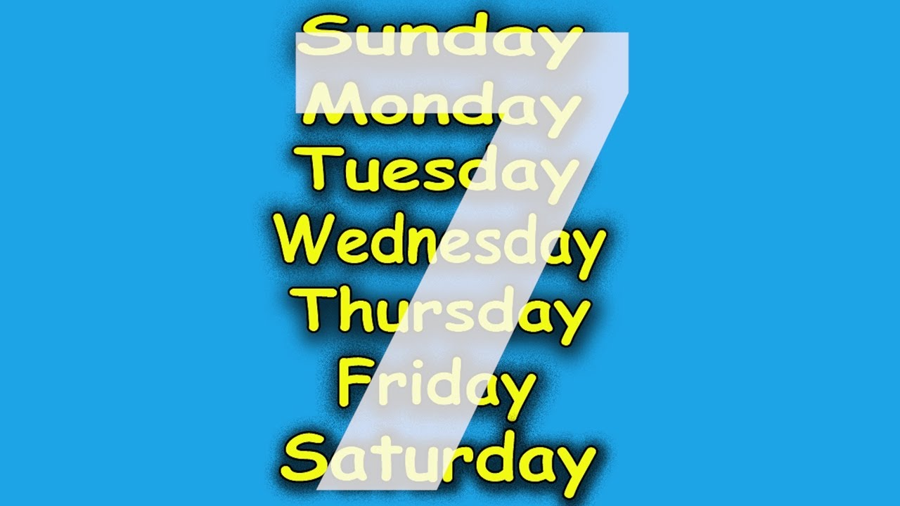 download Wallpapers The Days Of The Week In Sign Language Re 1280x720
