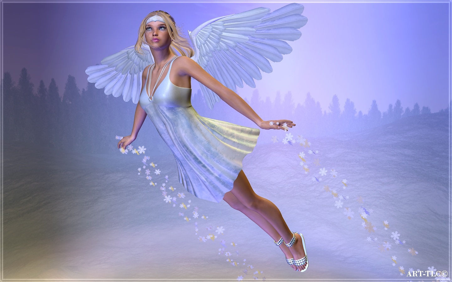 Wallpapers by ART TLC Wallpapers TLC Winter Angel Widescreen 1440x900