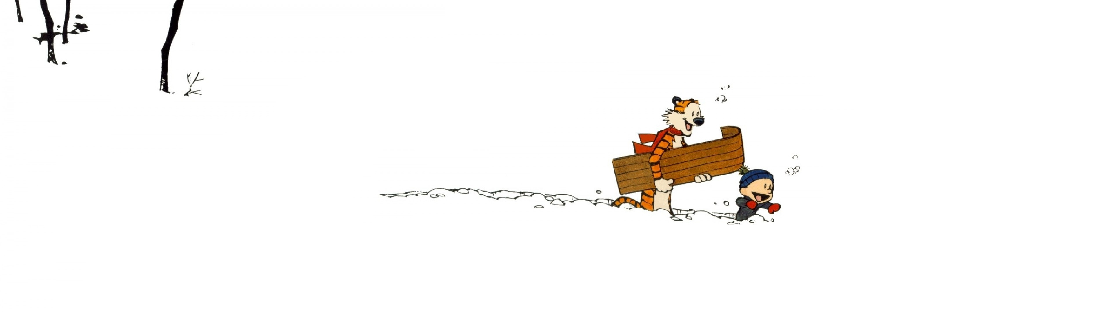I couldnt find any good dual monitor Calvin and Hobbes Wallpapers 3840x1080