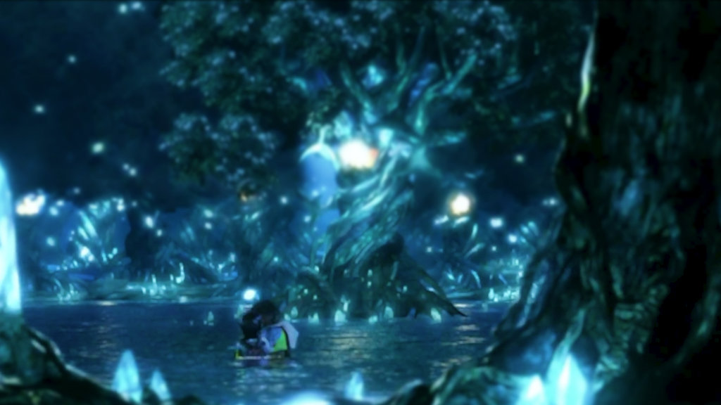 FFX Wallpaper   Yuna and Tidus   Macalania by cocoagirl08 on 1024x576