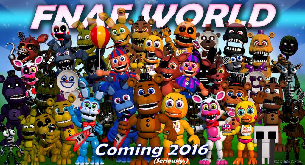 FNAF WORLD FINAL PIC by IraWolph 1024x555