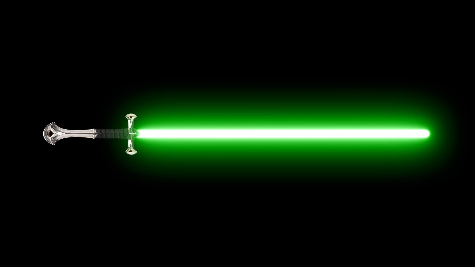 Green Lightsaber HD Wallpaper 48KB 1920x1080