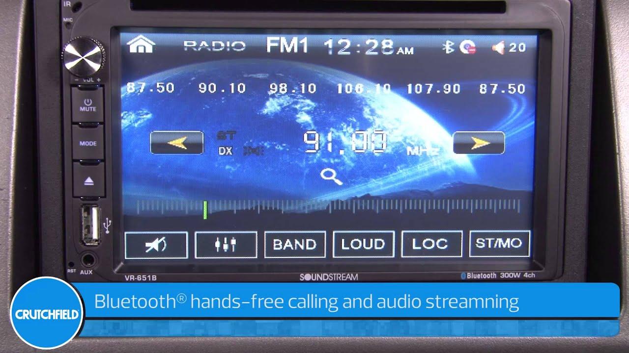 Soundstream VR 651B Display and Controls Demo Crutchfield Video 1280x720
