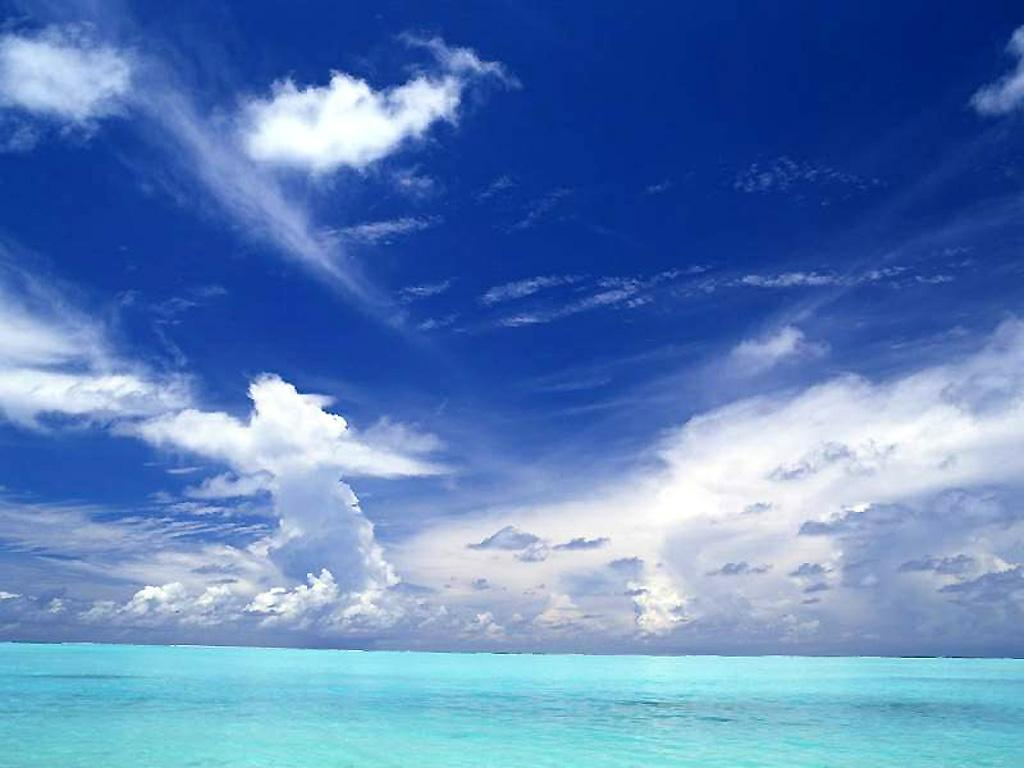 Blue Ocean Nature Backgrounds 1024x768