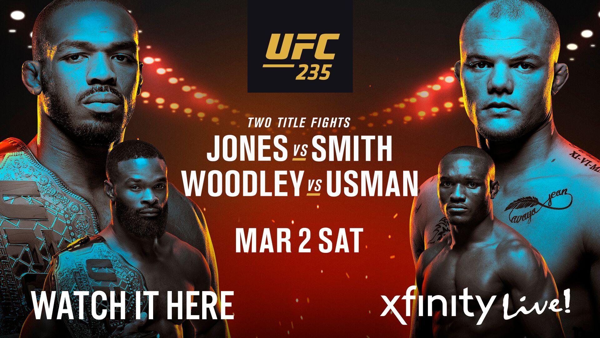 UFC 235 Jones vs Smith XFINITY Live Philadelphia Events 1920x1080