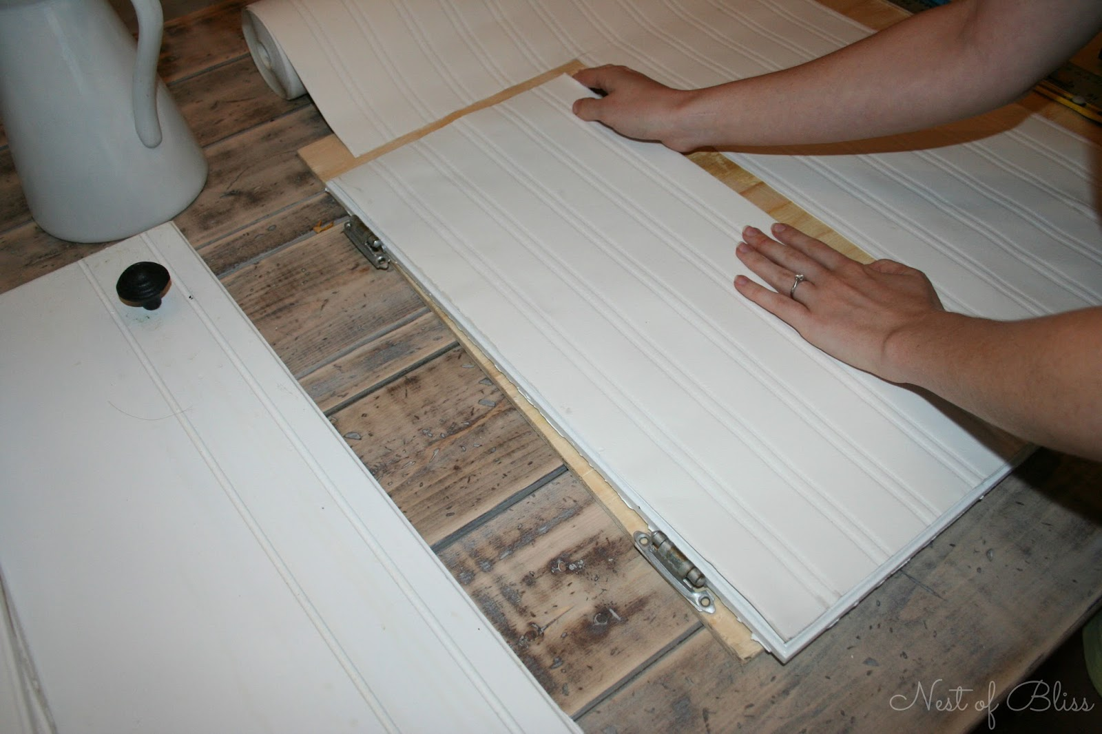 Using wood glue apply your outer frame for your cabinets 1600x1066