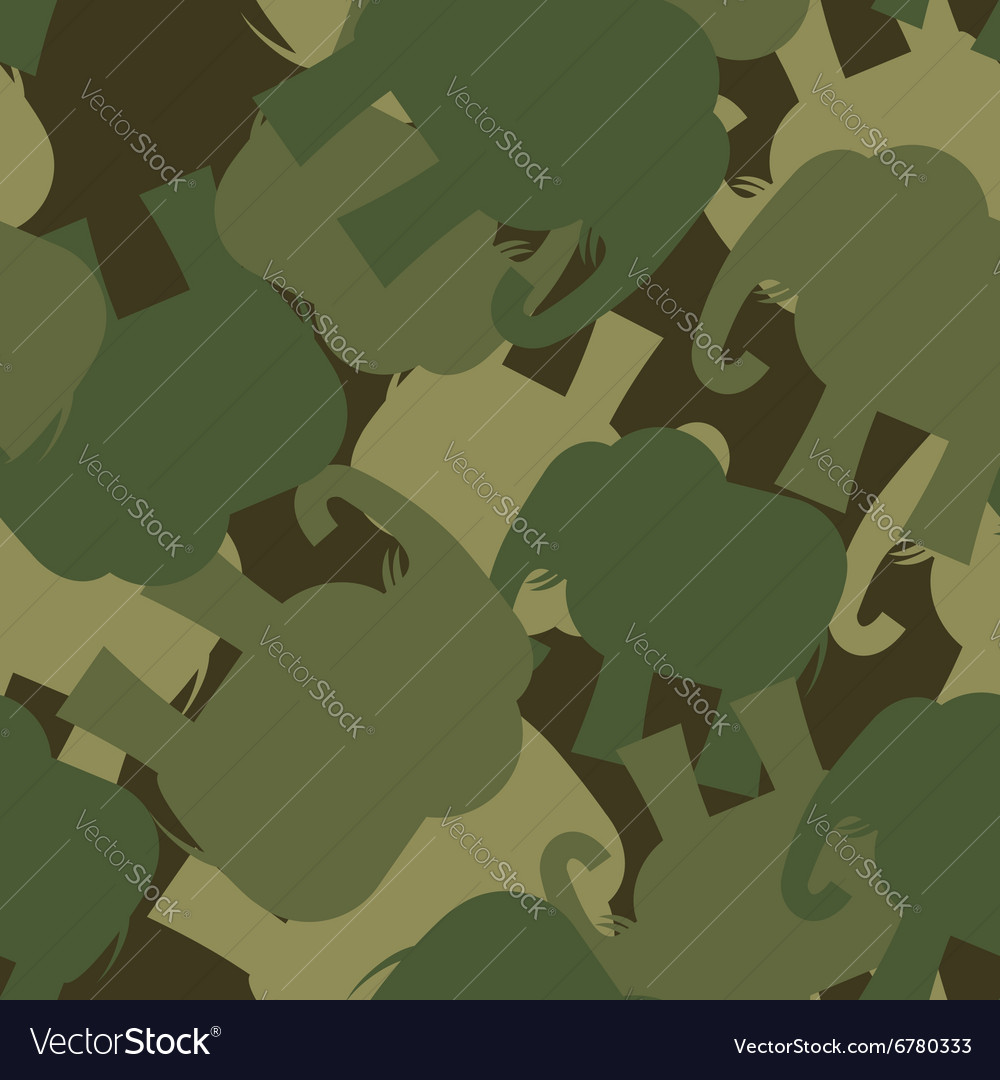 Army Pattern elephant Camo background of green Vector Image 1000x1080