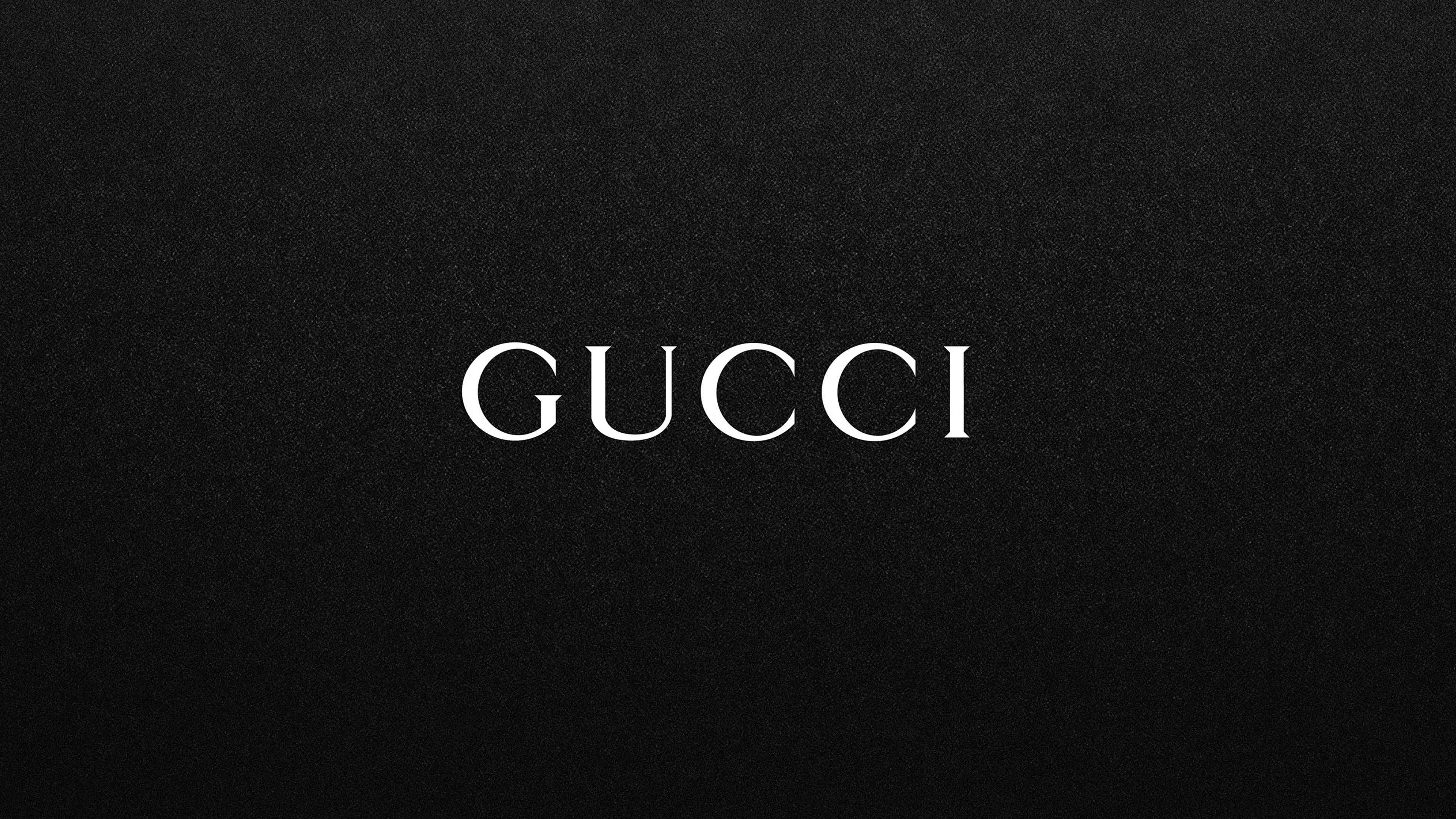 Gucci White Logo On Black Background Download Tablet 3840x2160