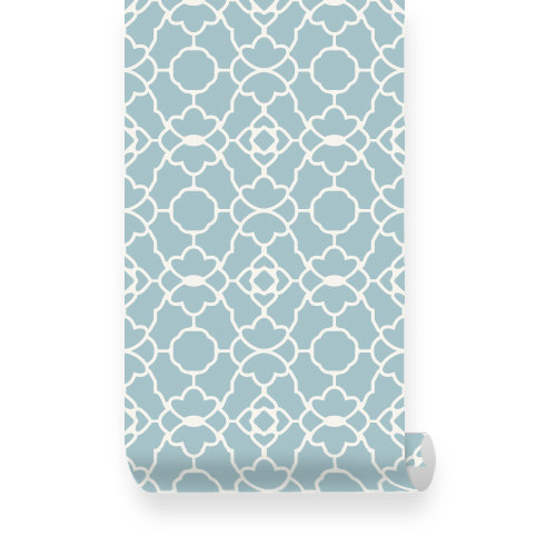 Small Trellis Pattern Dusky Blue Removable Wallpaper   Peel Stick 500x500