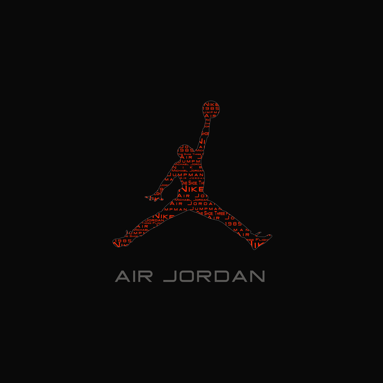 FREEIOS7 air jordan logo   parallax HD iPhone iPad wallpaper 2448x2448