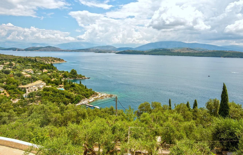 Wallpaper sea sea Greece greece corfu Corfu kerasia images 1332x850