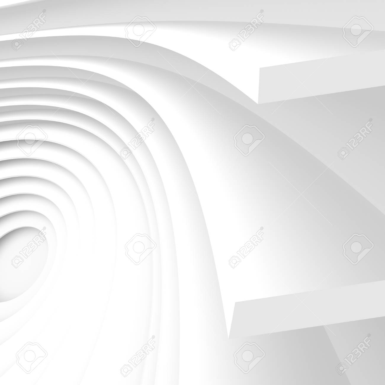 Futuristic Architecture Background White Abstract Wallpaper 1300x1300