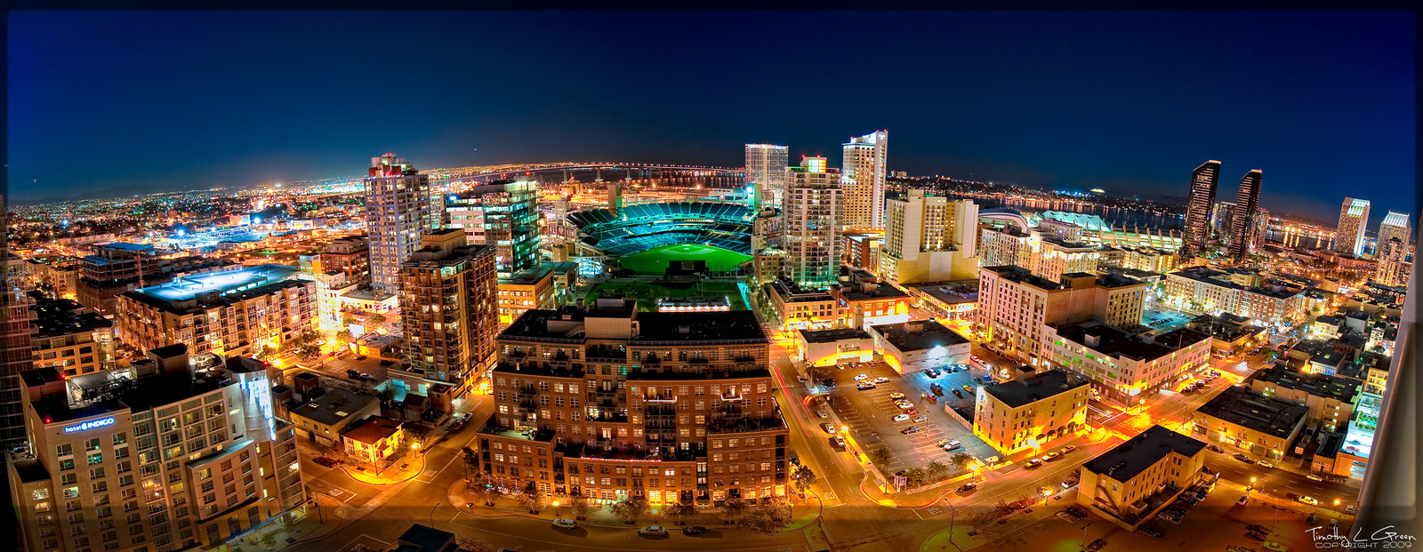 San Diego Skyline Petco Park by timothylgreen 1600x621