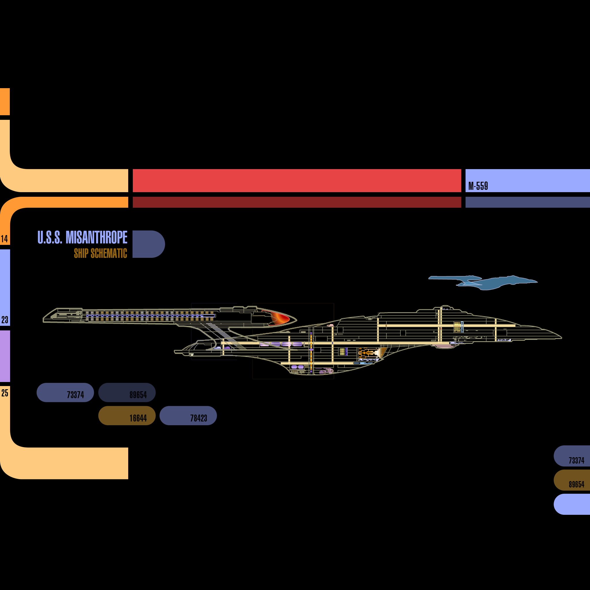 iPad landscape Starship Schematic Original TNG Colors 2048x2048
