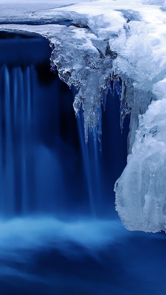 Frozen Cascade iPhone 5s Wallpaper Download iPhone Wallpapers iPad 640x1136