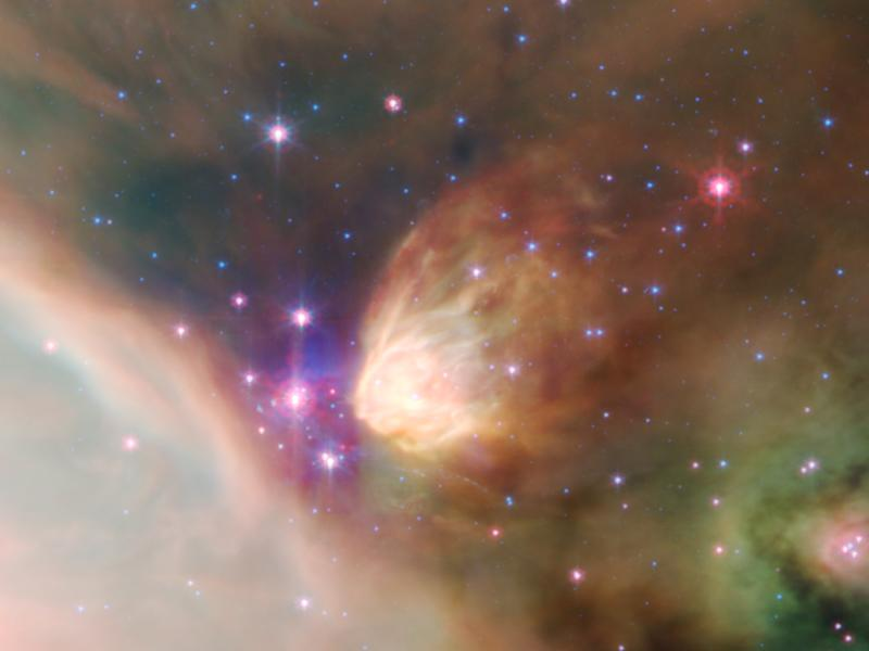Fabulous space traveller background from Spitzer telescope 800x600