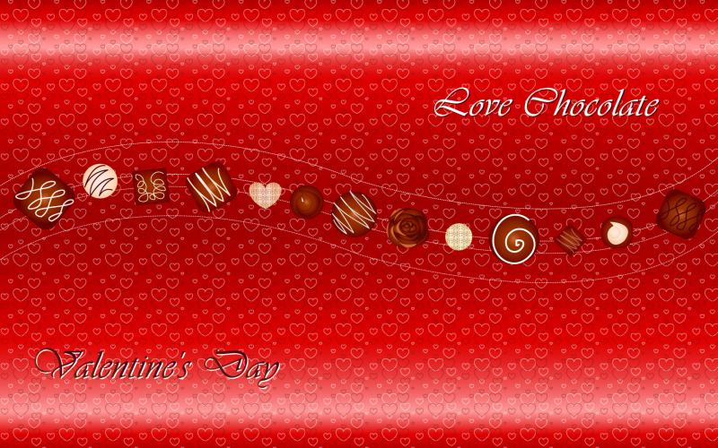 HD Valentines Day Chocolates Wallpaper Download 800x500