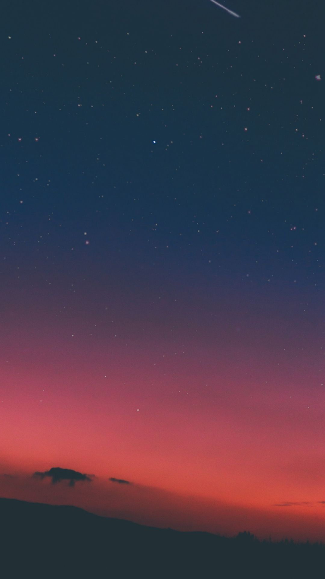 Free Download Night Sky Sunset Pink Nature Iphone 8