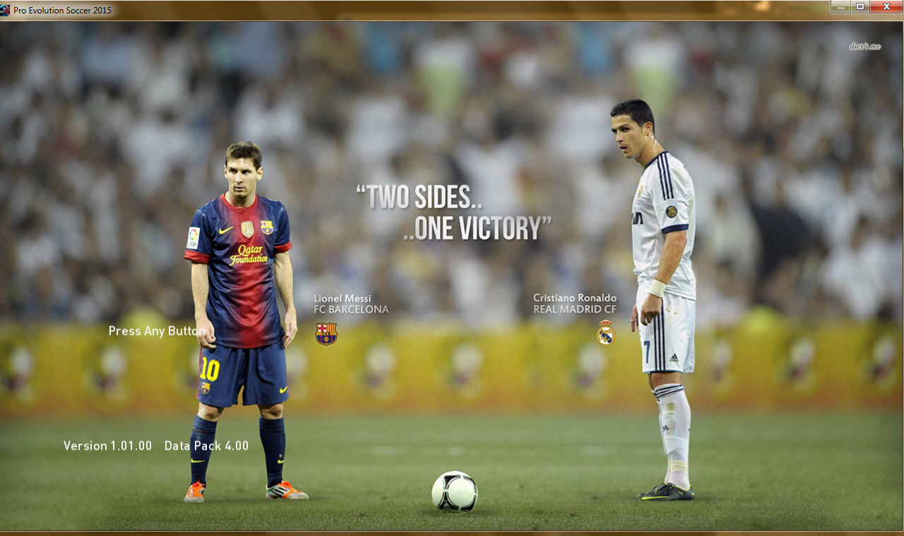 PES 2015 Lionel Messi VS CRonaldo StartScreen HD By Babaei007 1280x759