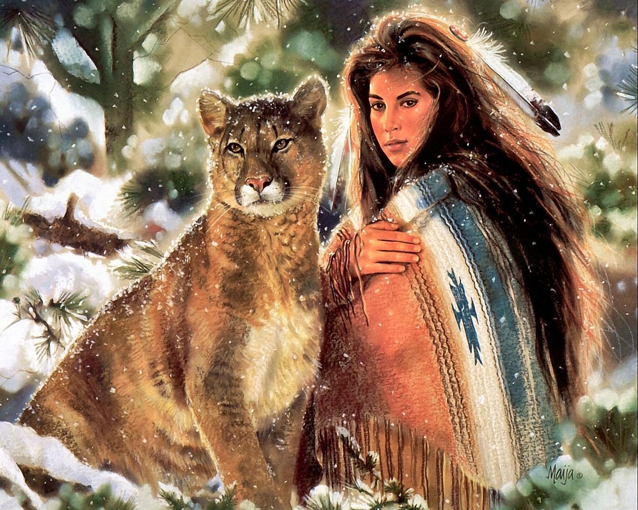 Native American Art by Maija   Desktop Wallpaper 1280x1024