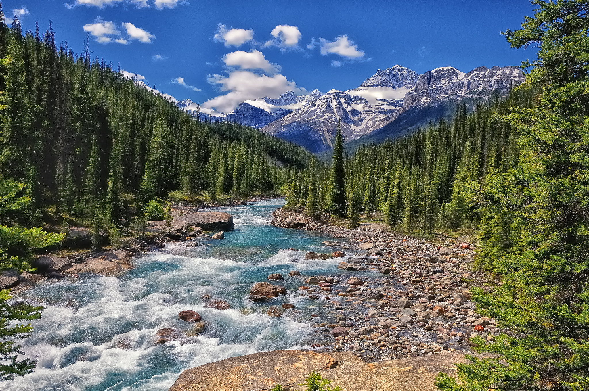 banff national park alberta canada river wallpapers photos 2048x1360