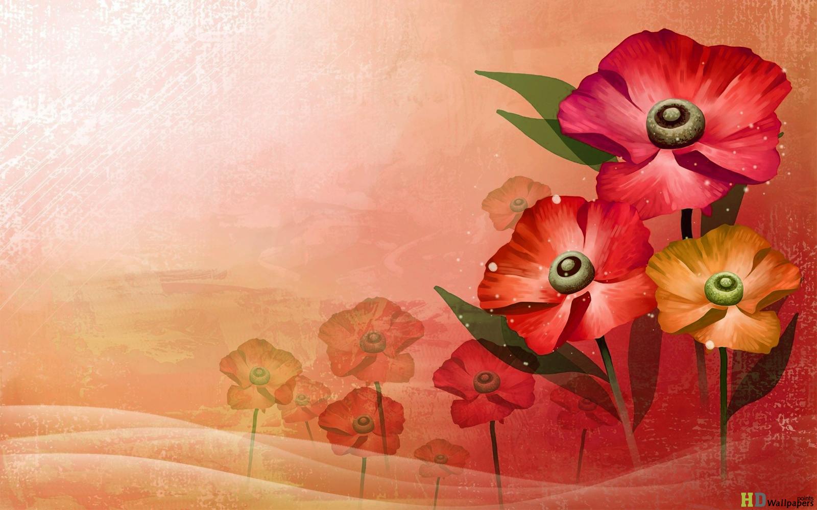 Beautiful Flowers Leaf Background 3d hd Wallpaper HD Wallpaper 1600x1000