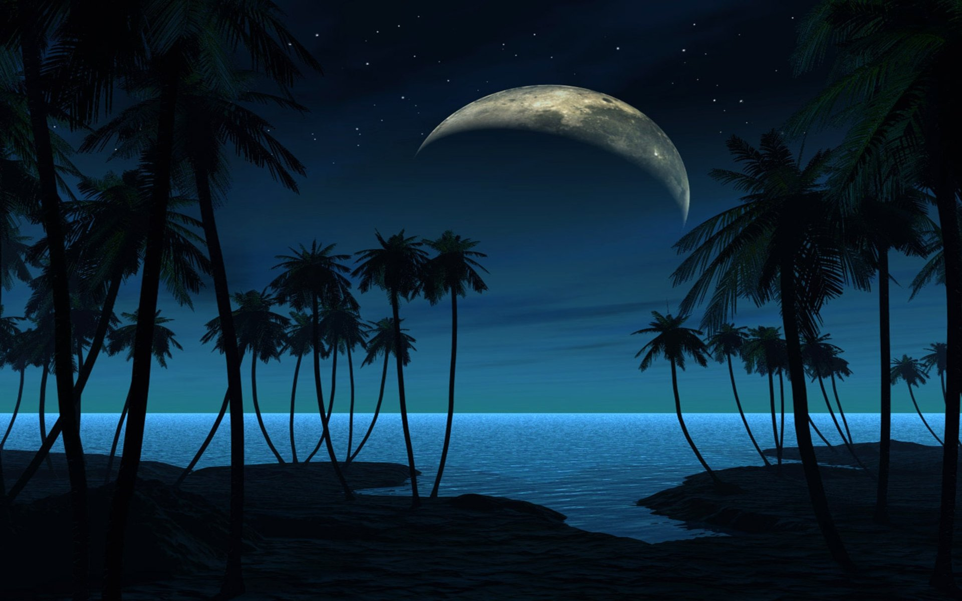 Beach at Night Pictures HD Wallpapers Live HD Wallpaper 1920x1200