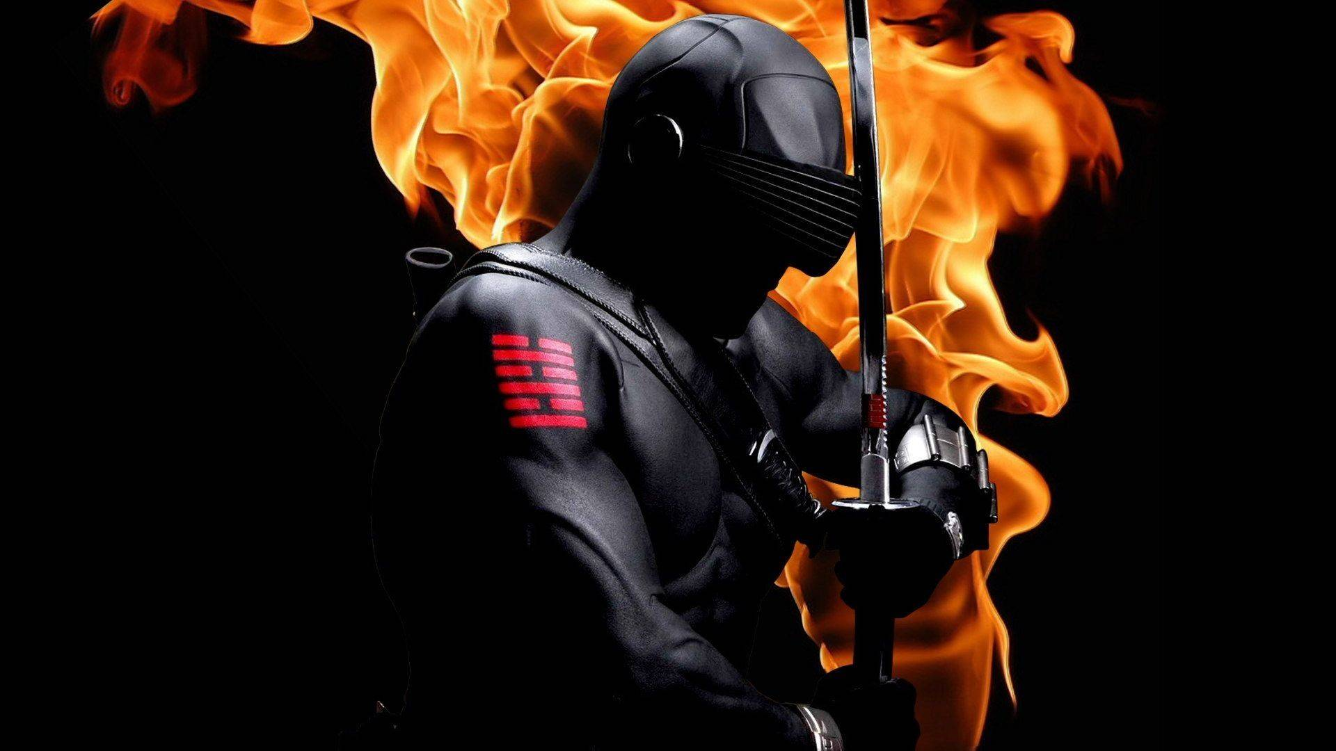 Snake Eyes GI Joe with sword on fire   Wallpapers Picture 1920x1080