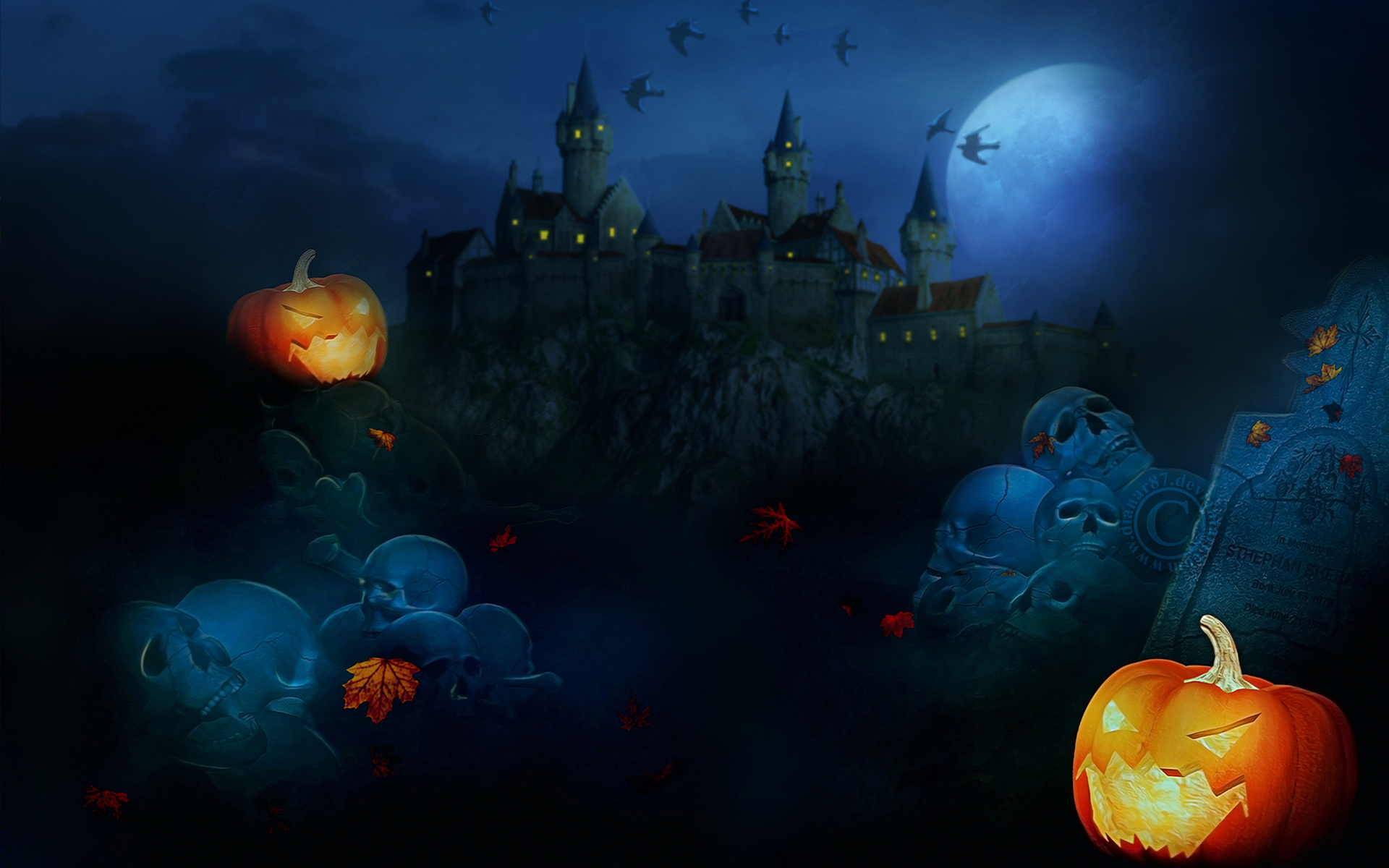 48 scary halloween wallpapers and screensavers on - Scary halloween wallpaper ...