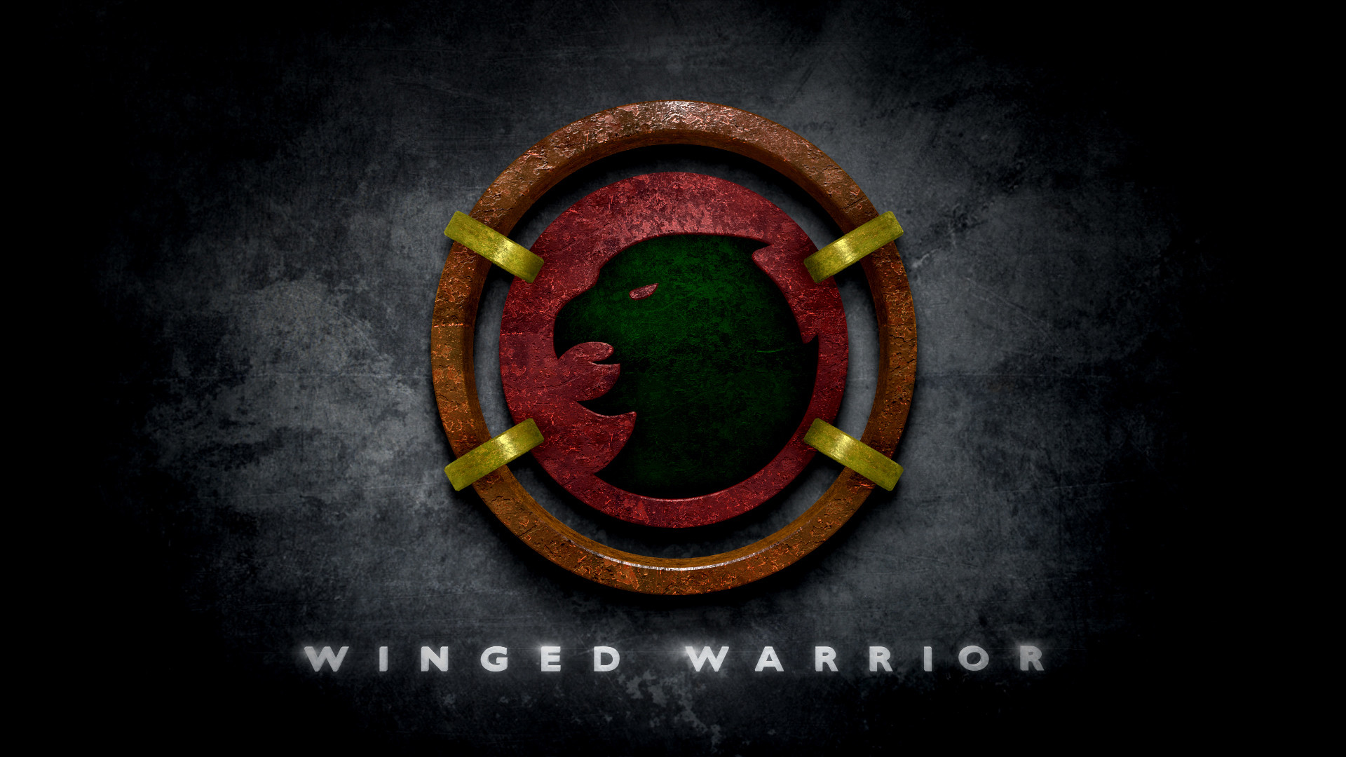 Hawkman Winged Warrior Logo in the Style of Man of Steel 1920x1080