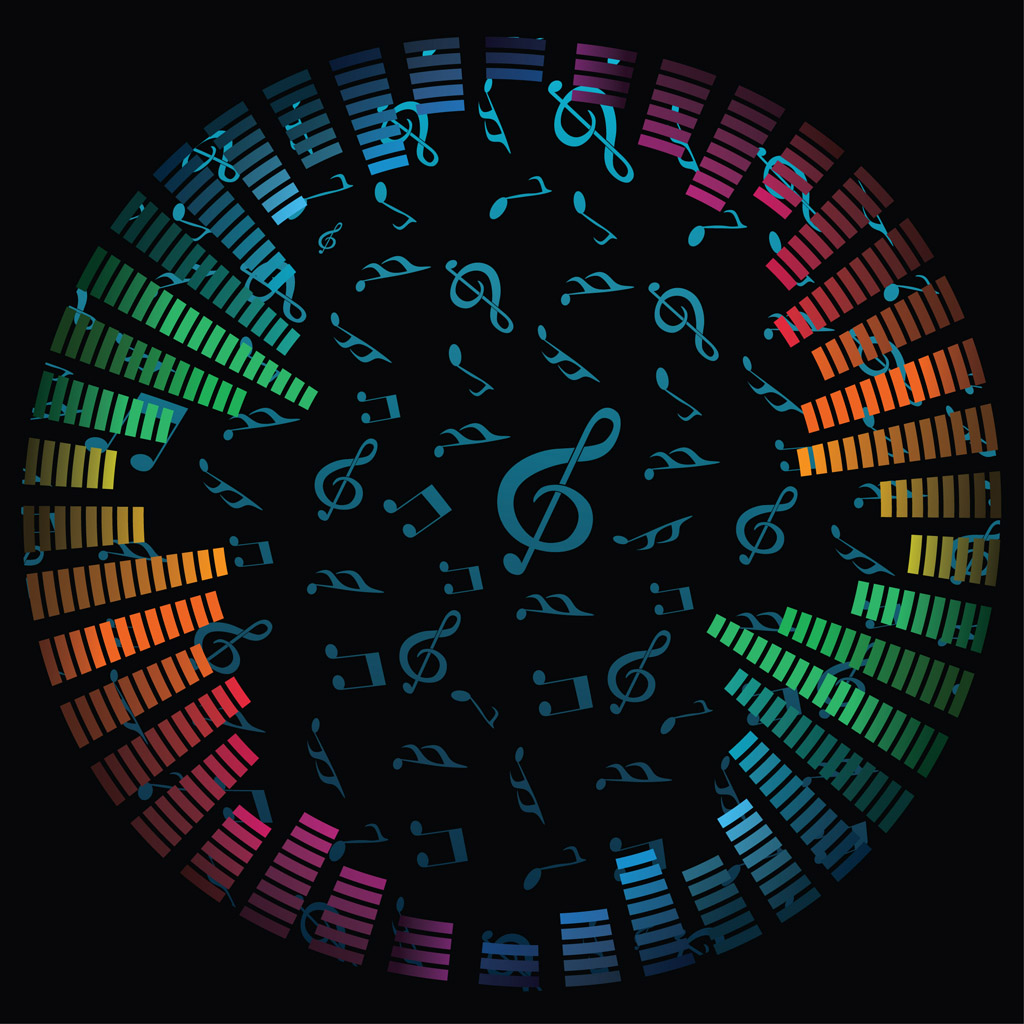 Music Notes Vector Background 1024x1024