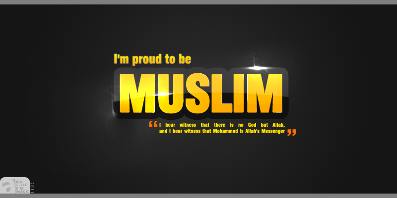 by Admin Labels Islamic Wallpapers Proud to be a muslim wallpaper 800x400