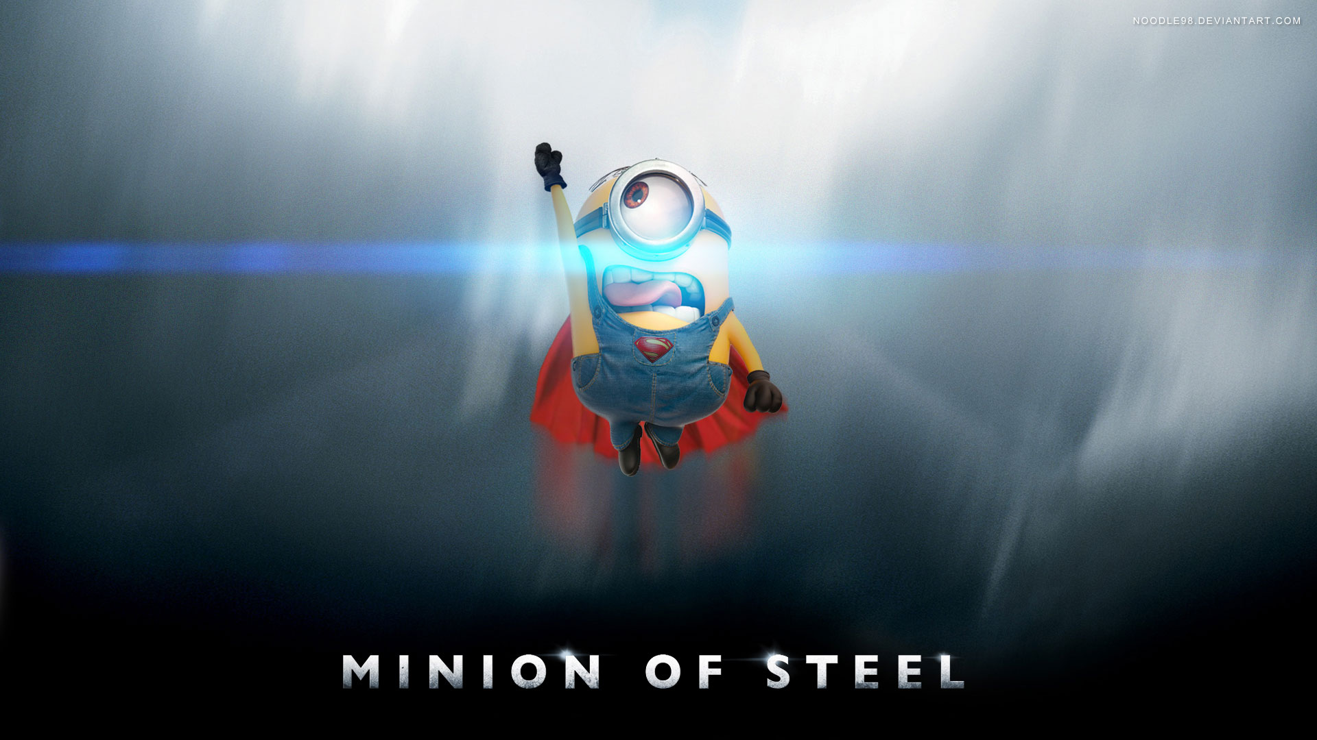 minion man of steel despicable me 2 wallpapers desktop backgrounds 1920x1080