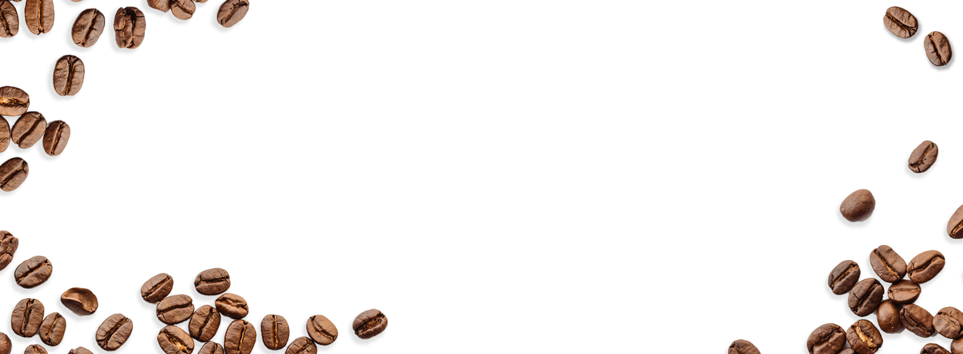 Download Scattered Coffee Beans On White Background   Coffee Beans 1900x700