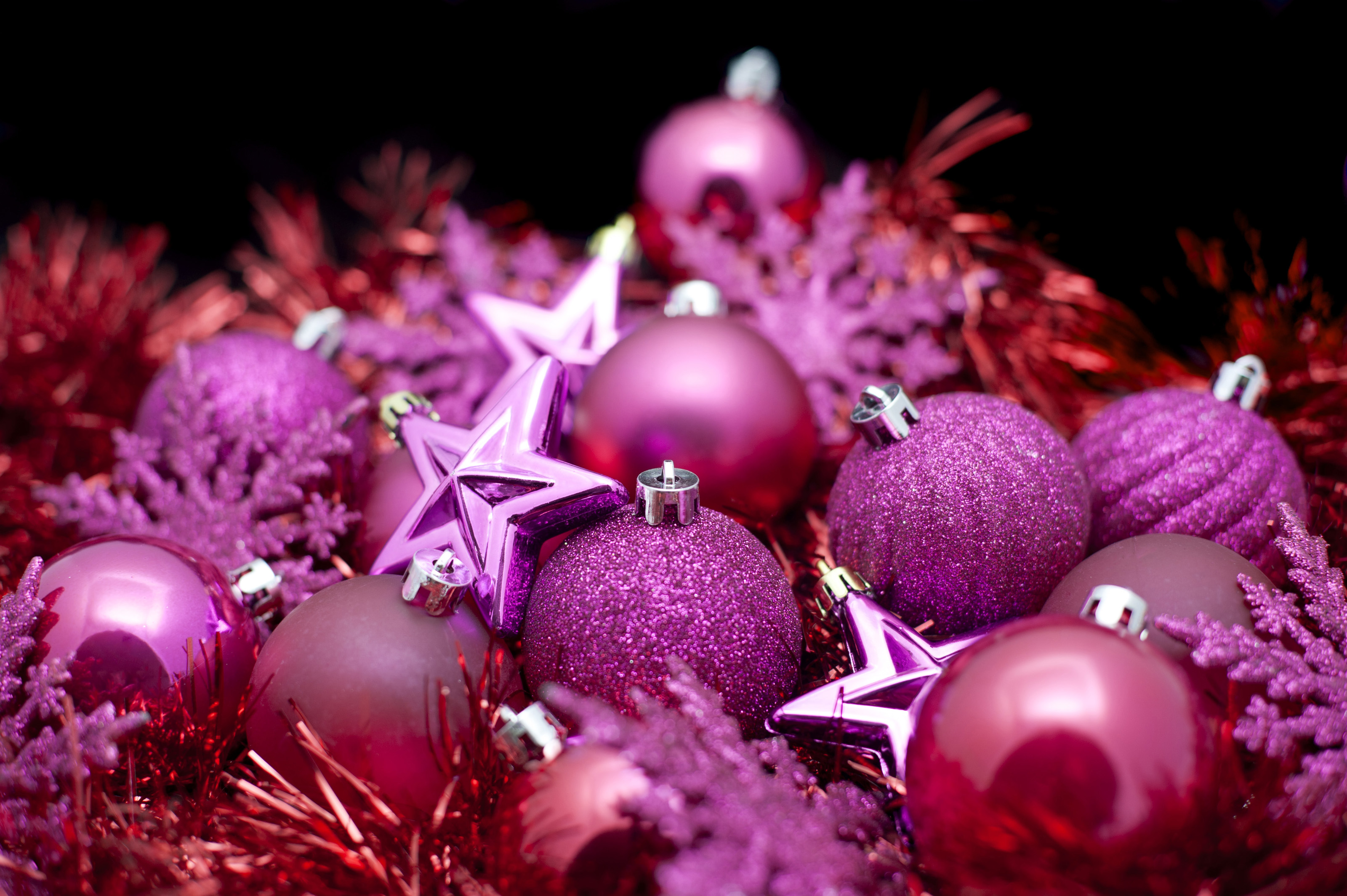 Background of pink Christmas decorations 6334 Stockarch 3200x2129