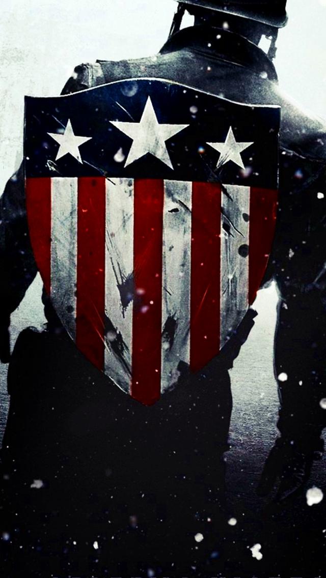 Captain America Flag Shield Wallpaper 640x1136
