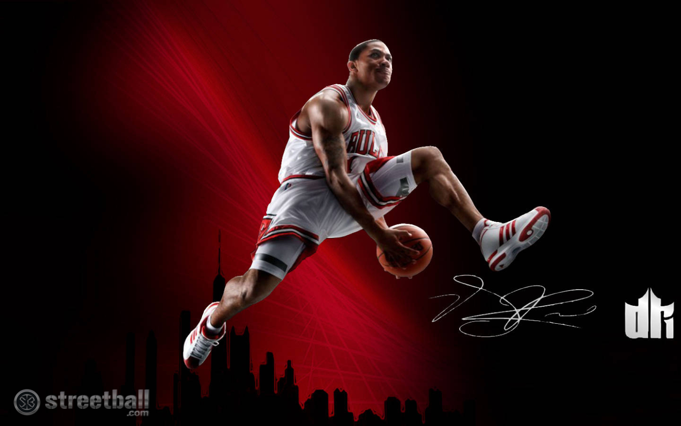 Pics Photos   Basketball Derrick Rose Wallpapers 1400x875
