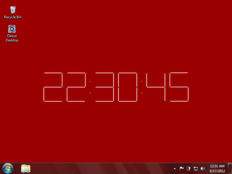 Desktop Wallpaper Digital Clock Download 800x600