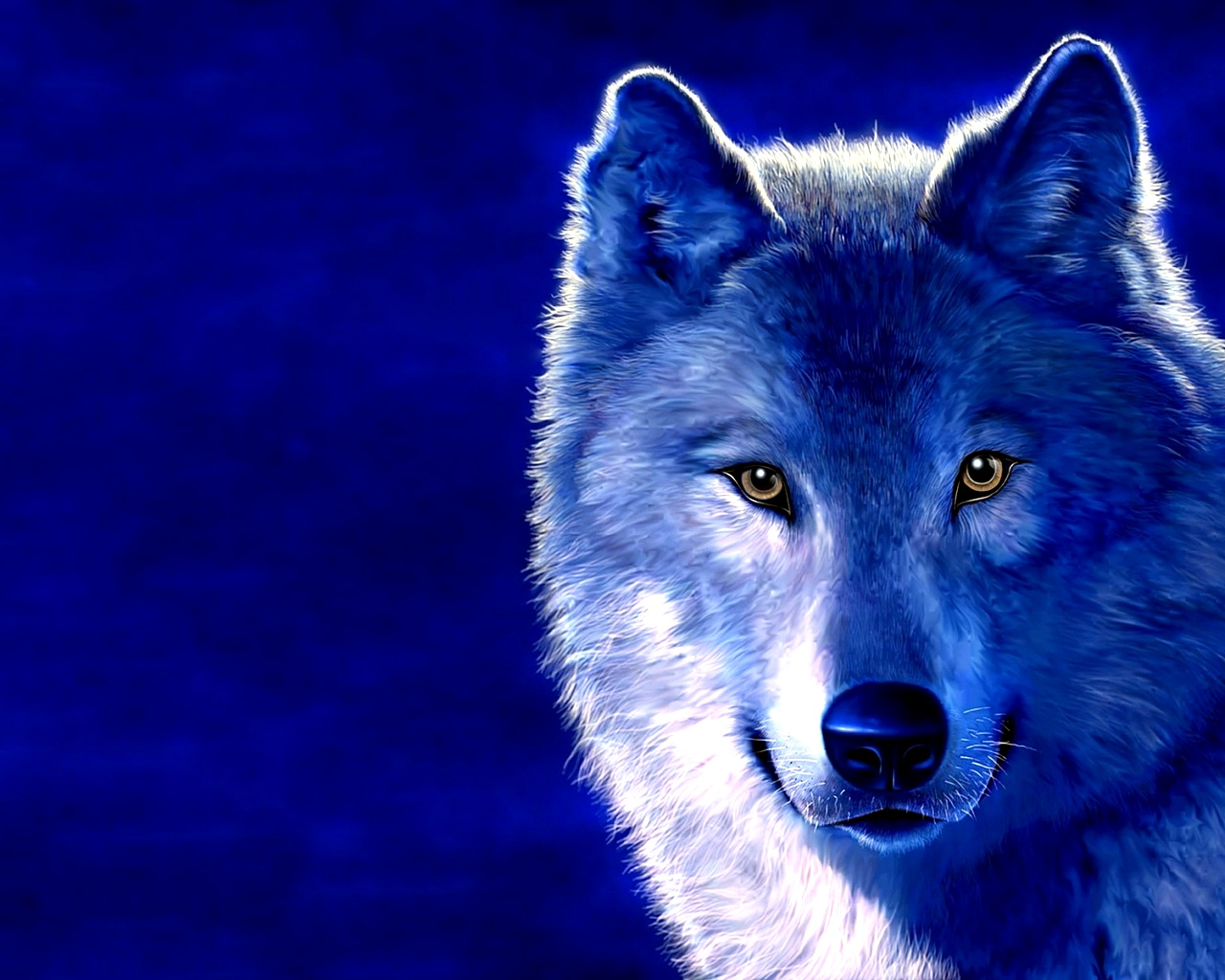 Desktop Best Quality Wallpapers here you can see 3D Wolf HD Desktop 1280x1024