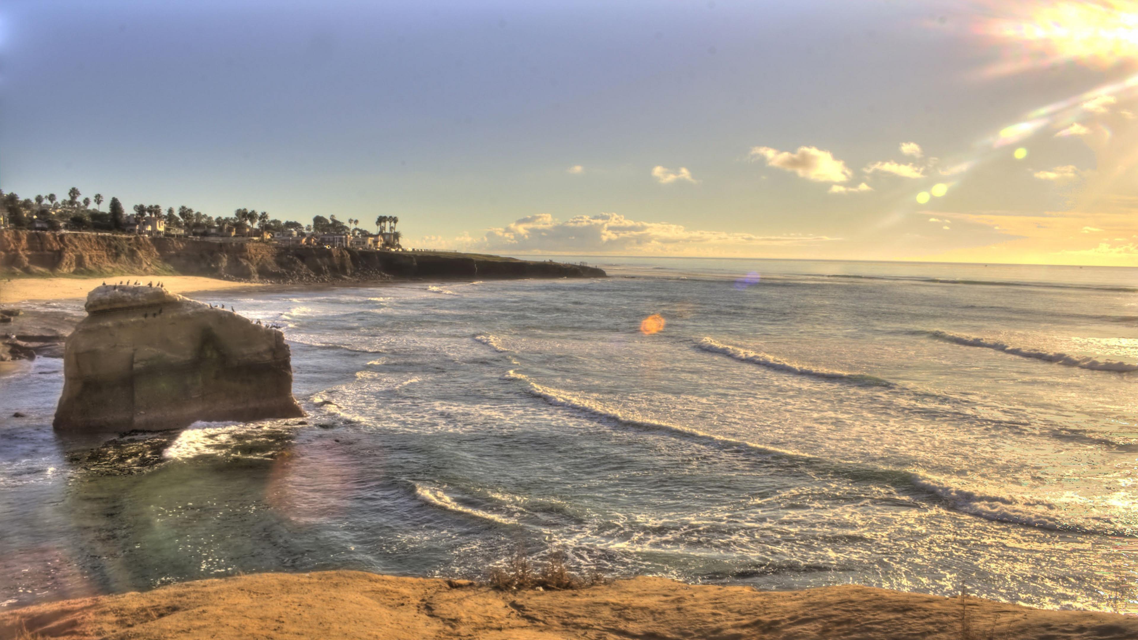 Beach San diego California Usa Wallpaper Background 4K Ultra HD 3840x2160