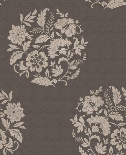 Floral Motif Chocolate   Love 2 Wallpaper 422x520