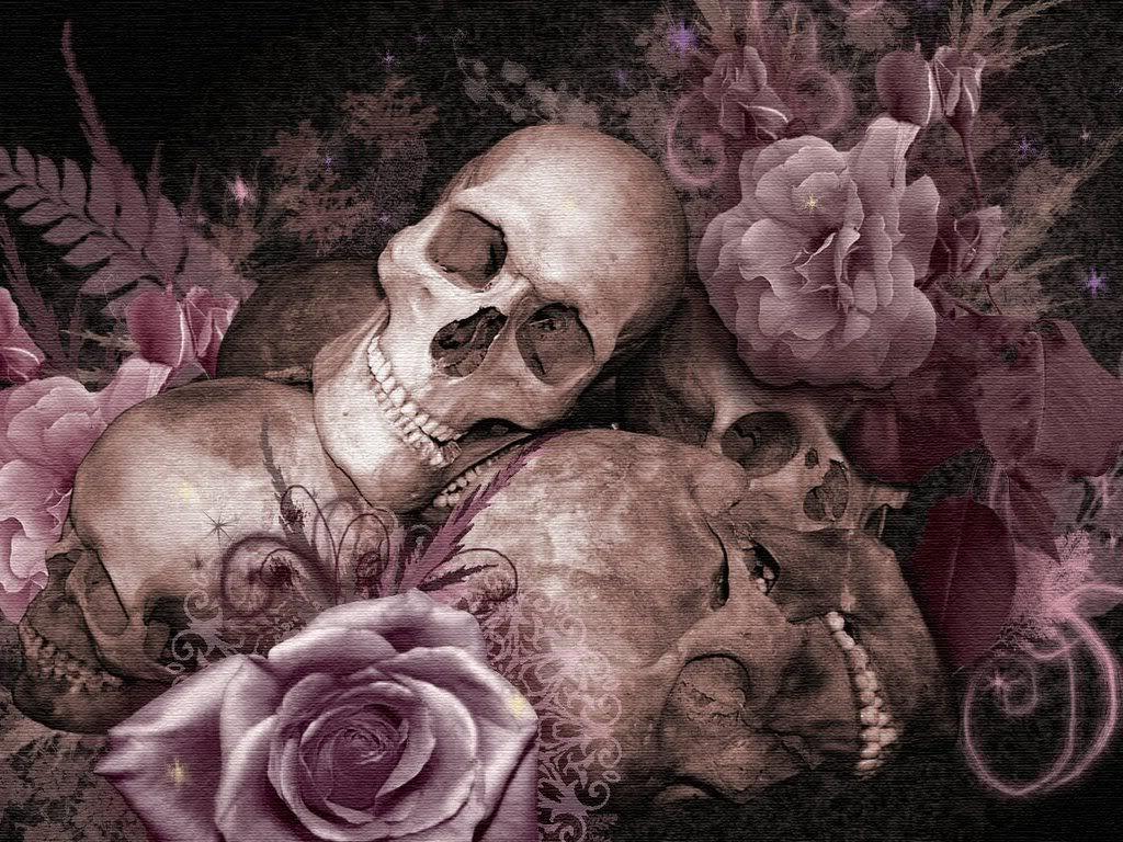 Skulls Skull Skeletons and Santa Muerte 1024x768